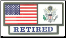 US Army Retired Pride Tag