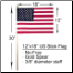 "12"" x 18"" US Stick Flag No-Fray"