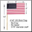"4"" x 6"" US Stick Flag No-Fray"