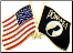 Black POW / MIA - USA Crossed Flags