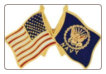 USA / Navy Crossed Flag