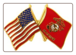 USA / USMC Crossed Flags