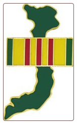Vietnam Outline with Service Ribbon