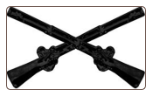 Infantry Crossed Rifles ( Black )