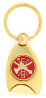 Fire Fighter Service Key Ring