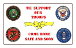 Support Our Troops 3' x 5' Polyester Flag