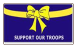 Yellow Ribbon on Blue 3' x 5' Polyester Flag