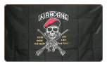 Airborne - Mess with the best die like the rest 3' x 5' Polyester Flag