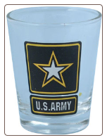 Shot Glass - US Army Star