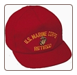 RED CAP U.S. MARINE CORPS RETIRED