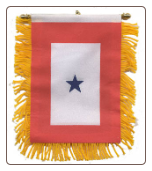 One Blue Star Mini Banner