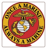 """Once a Marine Always a Marine"" Magnet"