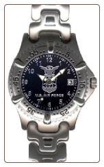 Sport Dress Chrome Strap Watch - Air Force