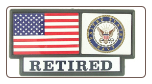 US Navy Retired Pride Tag