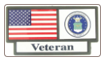 US Air Force Veteran Pride Tag