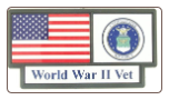 US Air Force WW II Vet Pride Tag