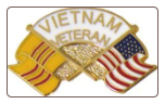Vietnam Veteran Crossed Flags