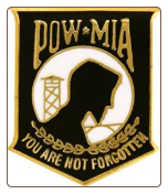 POW / MIA Shield (Black)
