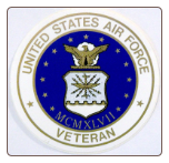 UNITED STATES AIR FORCE VETERAN SIZE 3-5/8""