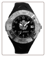 Sport Dress Rubber Strap Watch - Army
