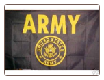 Army - Gold 3' x 5' Polyester Flag