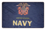 New Navy 3' x 5' Polyester Flag