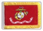 "MARINE 4"" X 6"" WITH FRINGE ANTENNA FLAG"