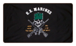 US Marine ( Mess with the best die like the rest ) 3' X 5' Polyester Flag