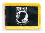 "4"" x 6"" POW/MIA Antenna Flag with Fringe"