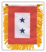 Two Blue Star Mini Banner