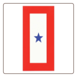 Single Blue Star Decal