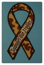 Sopport our Troops Camo Magnet